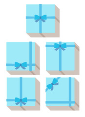 flat style, wrapped gift or gift card