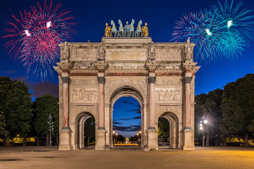 Arc de Triomphe du Carrousel at Tuileries Gardens, Paris