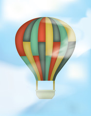 Hot Air Balloon with Colored Rectangles