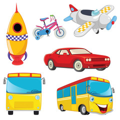Vehicles Vector Set