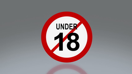 adult sign under 18 age