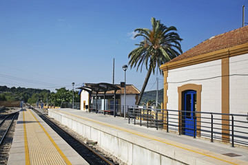 Railway station in Calpe. Spain