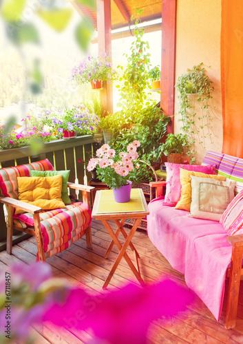Fotobehang Tuin nice balcony 02