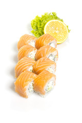 Sushi roll isolated o white background