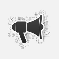 Drawing business formulas: megaphone
