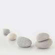 canvas print picture - Stones - grey background