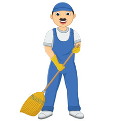 Isolated Cleaner Vector Illustration