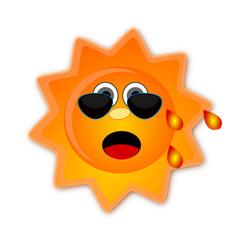 Sole con occhiali da sole