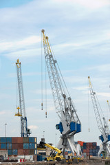 big cranes in dutch harbor