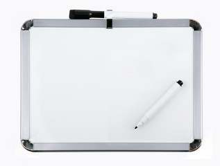 Empty whiteboard (magnetic board) isolated