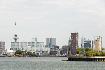rotterdam skyline with euromast