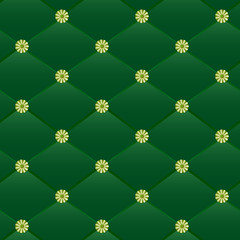 Vintage green leather pattern.