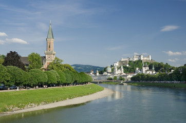 Salzburg City Historic Center And Evangelical Christ Church
