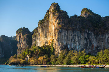 Cliff at the Railay peninsula in Krabi, Thailand