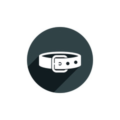Belt vector icon isolated.