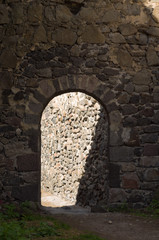 arc in a wall, Khertvisi fortress, Georgia