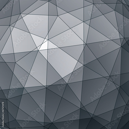 Abstract 3D vector graphic backdrop, modern geometric decorative