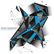 Dimensional mesh colorful background. 3d abstract network backdr