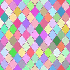 Rombus colorful seamless pattern.