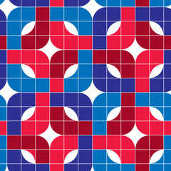 Ornate tiles seamless pattern, geometric vector background.
