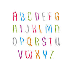 Hand written fresh vector font, stylish drawn alphabet letters s