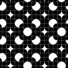 Retro tiles seamless pattern, vector background.