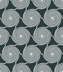 Vector geometric decorative seamless pattern.