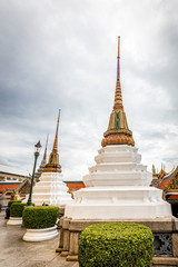 The Pagodas in Temple of Emerald Buddha ,Thailand