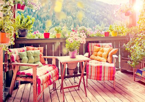 Fotobehang Tuin nice balcony 03