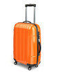 Luggage, Orange suitcase on white isolated background. - 67123634