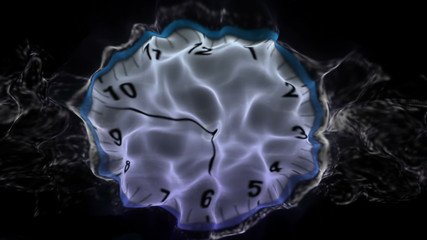 Clock, Time Travel Concept