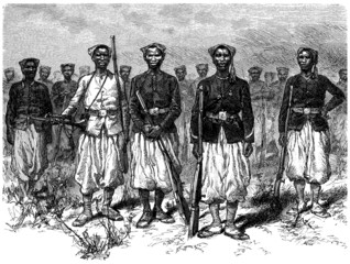 African Soldiers - Tirailleurs Sénégalais - 19th century