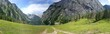 canvas print picture - Panoramablick am Königssee