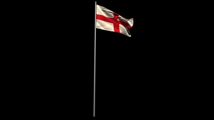 England national flag waving on flagpole