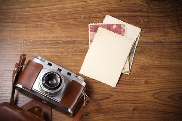 old camera and old pictures album, old memories