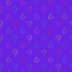 Seamless sketch heart background