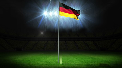 Germany national flag waving on flagpole