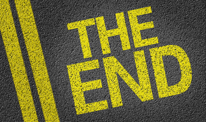 The End written on the road