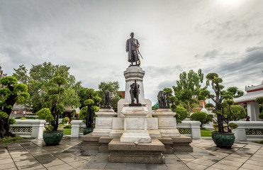 King Rama II Statue in The Temple of Dawn