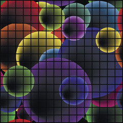 Bubble pixel pattern.