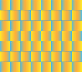 Pattern made with gradient blocks.