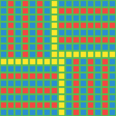 Bright blocks parquet pattern with a displace.