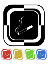 Cigarette button mosaic retro colors square