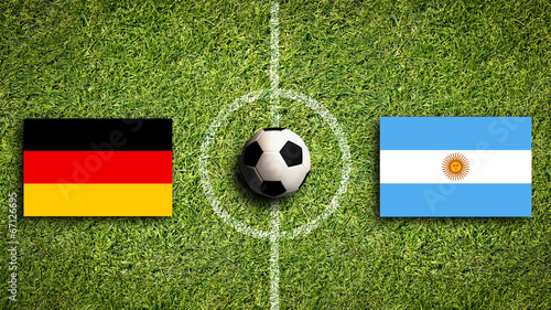 canvas print picture Deutschland vs. Argentinien