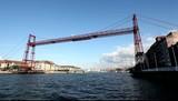 Vizcaya Bridge or Puente Colgante in Bilbao, Spain poster