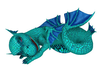 Sleeping Little Sea Dragon