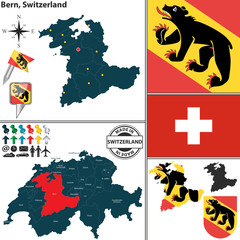 Map of Bern, Switzerland