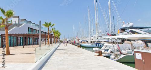canvas print picture Neue Hafen in Palma de Mallorca