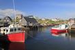 Peggy's Cove village and fisherman boats, Nova Scotia, Canada