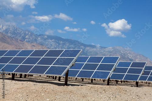 Leinwanddruck Bild Solar Panels